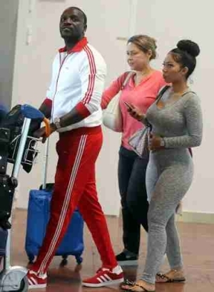 Singer Akon Steps Out With One Of His Hot Wives (Photos)